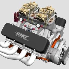 Chevrolet Big Block Tunnel-Ram V8 Engine 3D Model