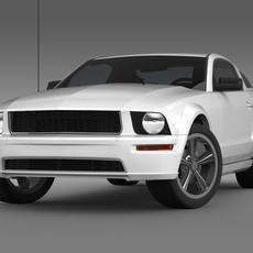 Ford Mustang Bullit 2008   3D Model