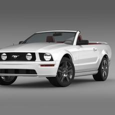 Ford Mustang Convertible GT 2005  3D Model