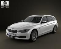 BMW 3 Series (F30) touring 2012 3D Model