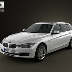 BMW 3 Series (F30) touring 2012 3D Model