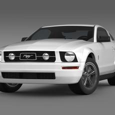 Ford Mustang V6 Pony 2006  3D Model