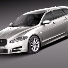 Jaguar XF Sportbrake 2013 3D Model