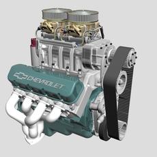Chevrolet Big Block V8 Engine with Blower 3D Model