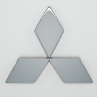 Mitsubishi Logo 3D Model