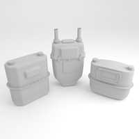 Gas meter collection 3D Model
