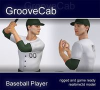 Baseball Player Male rigged 3D Model
