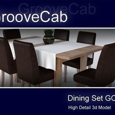 Dining Table Set GC01 3D Model