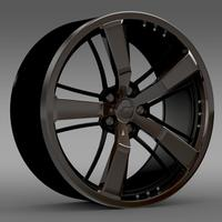 Chevrolet Camaro 2008 BlackConcept rim 3D Model