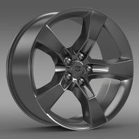 Chevrolet Camaro 2010 transformer rim 3D Model