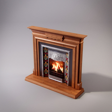 Classical Fireplace 3D Model