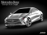 Mercedes Concept Style Coupè 3D Model