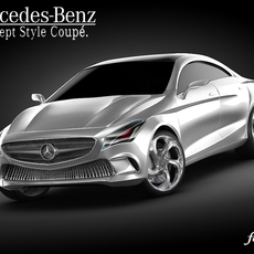 Mercedes Concept Style Coupè 3D Model