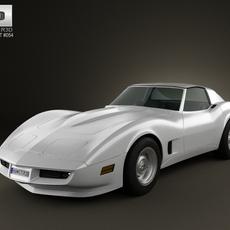 Chevrolet Corvette Stingray (C3) Coupe 1973 3D Model