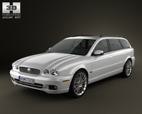 Jaguar X-Type estate 2009 3D Model