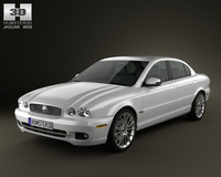 Jaguar X-Type saloon 2009 3D Model