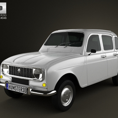 Renault 4 (R4) hatchback 1974 3D Model