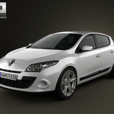 Renault Megane hatchback 2011 3D Model