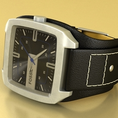 Fossil Watch male 3D Model