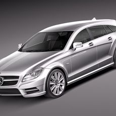 Mercedes CLS Shooting Brake 2013 3D Model