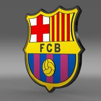 Barcelona football emblem  3D Model