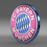Bayer football emblem  3D Model