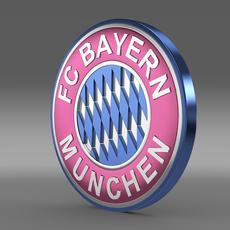 Bayer football emblem  3D Model