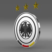Germany football emblem  3D Model