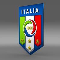 Italy football emblem   3D Model