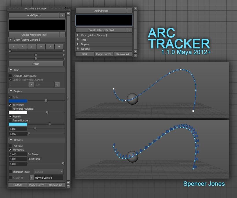 Arc Tracker for Maya