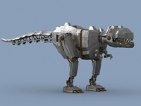 Mechanical dinosaur 3D Model