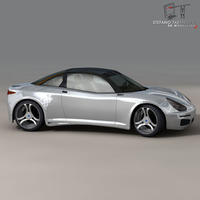 Electric concept sports car 3D Model