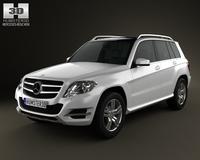 Mercedes-Benz GLK-Class X204 2013 3D Model