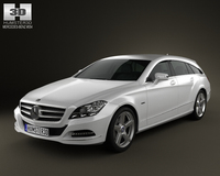 Mercedes-Benz CLS-Class X218 Shooting Brake 2013 3D Model