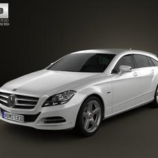 Mercedes-Benz CLS-Class X218 Shooting Brake 2013 3D Model