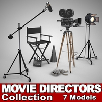 Movie Directors Collection 3D Model