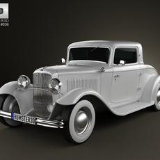 Ford Model B De Luxe Coupe V8 1932 3D Model