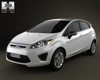 Ford Fiesta Hatchback 5-door 2012 3D Model