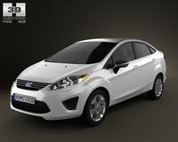 Ford Fiesta Sedan 2012 3D Model