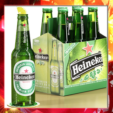 Heineken Six Cardboard pack 3D Model
