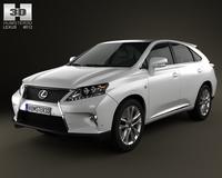 Lexus RX F Sport hybrid (AL10) 2012 3D Model