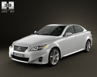 Lexus IS (XE20) 2012 3D Model
