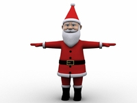 Cartoon Santa 3D Model
