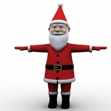 Cartoon Santa 3D Model