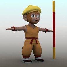 Cartoon The Monkey King 3D Model