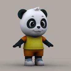 Cartoon Panda 3D Model