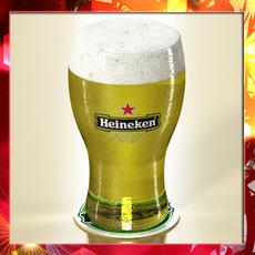 Heineken Beer - Pint Glass 3D Model