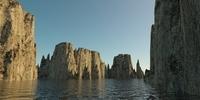 Landscape - rocky islands 01 3D Model