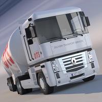 Renault Magnum Tanker Truck 3D Model