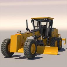 Road Grader Scraper John Deere 872D 3D Model